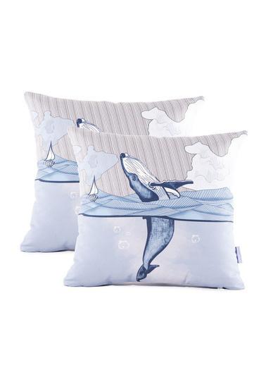 Firuze Home&Bath 2'li Kırlent Deep İn Ocean Renkli